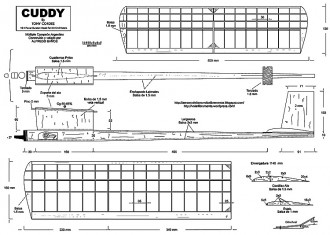 Cuddy FF model airplane plan