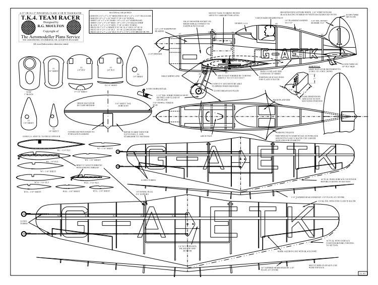 De Havilland T.K.4 model airplane plan