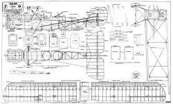 DH.9A. model airplane plan