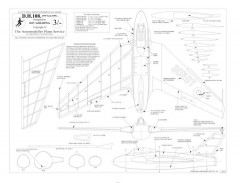DH 108 BW print model airplane plan