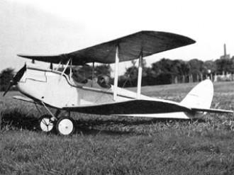 DH 60 Cirrus Moth model airplane plan