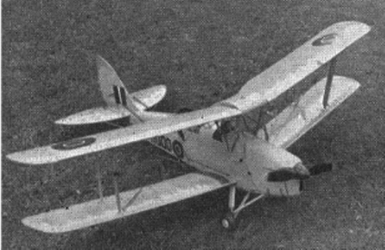 DH Tiger Moth model airplane plan