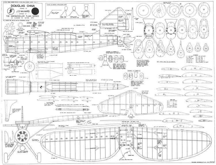 Douglas O-46A model airplane plan