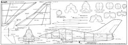 EAP Jetex model airplane plan