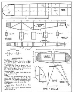 "The ""Eagle"" model airplane plan"