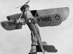Fairey Swordfish MkI model airplane plan