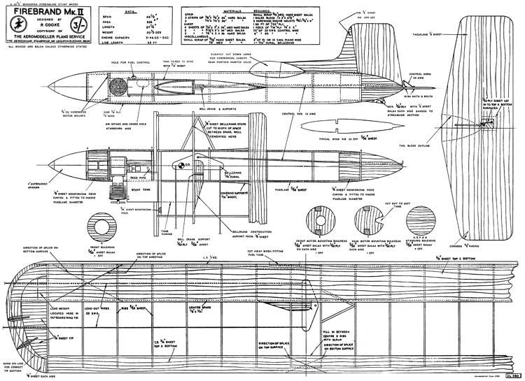 Firebrand model airplane plan