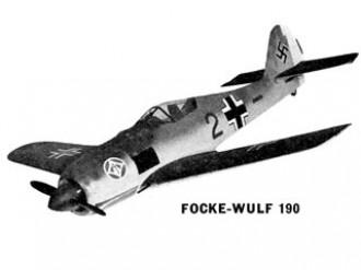 Focke-Wulf 190 model airplane plan