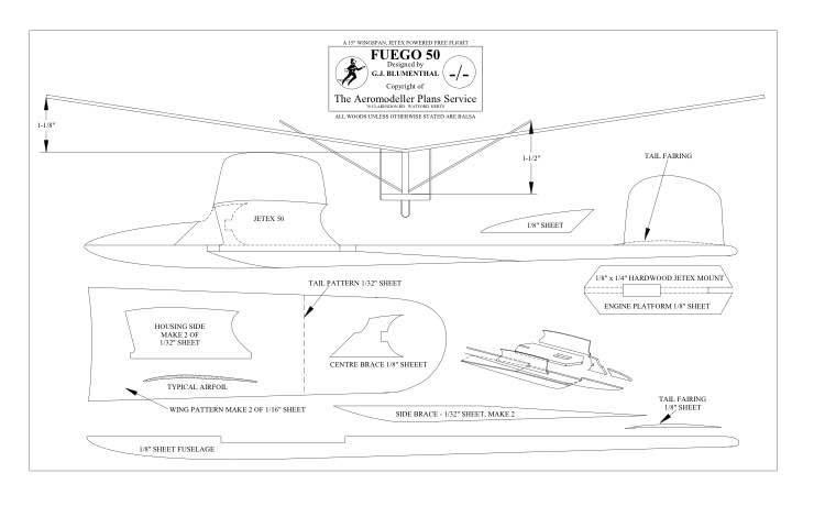 Fuego 50 BW Print model airplane plan