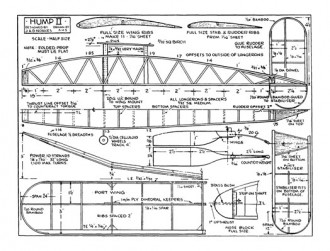 Hump II model airplane plan
