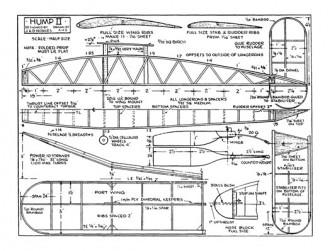 Hump II model airplane plan