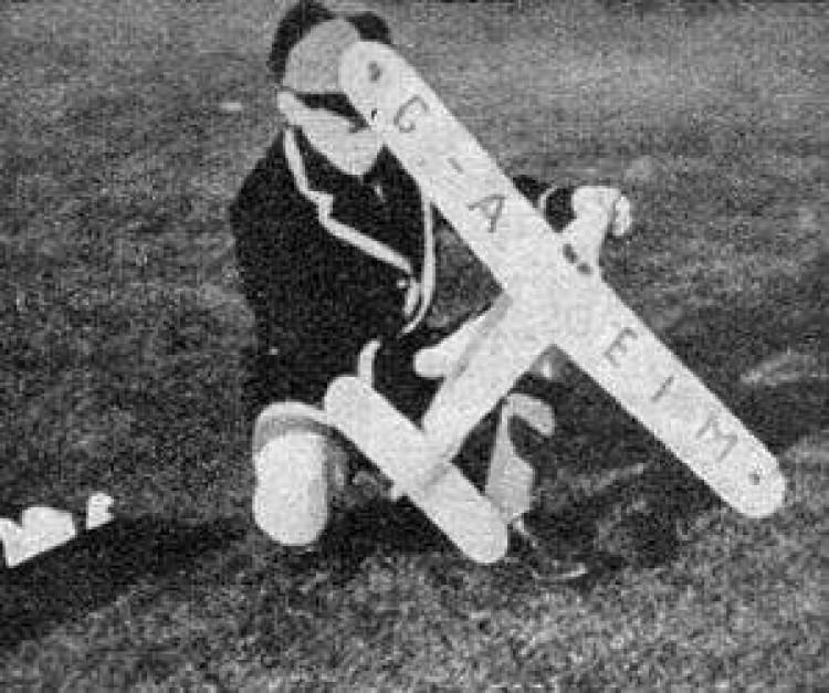 Jackdaw II model airplane plan