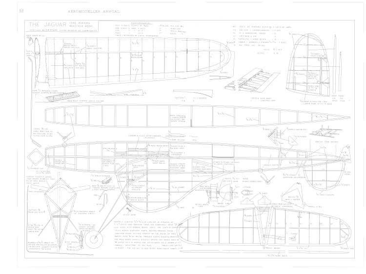 Jaguar model airplane plan