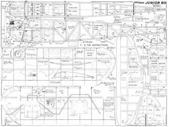 Junior 60 KK model airplane plan