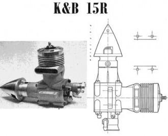 K&B 15R model airplane plan