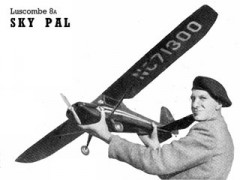 Luscombe 8A Sky Pal model airplane plan