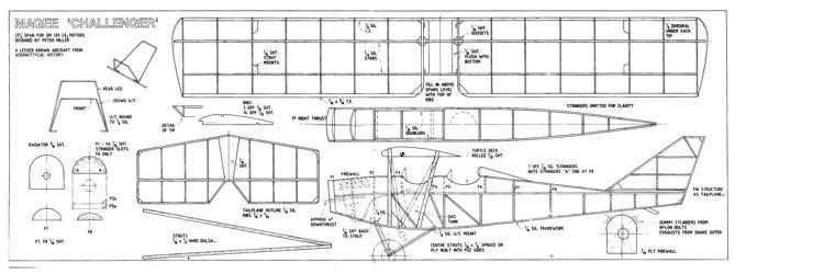 "Magee ""Challenger"" model airplane plan"