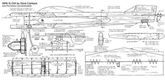 Mini Slow model airplane plan