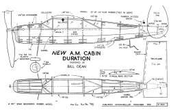 New AM Cabin Duration model airplane plan