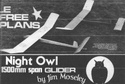 Night Owl model airplane plan