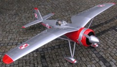 PZL P.24 model airplane plan