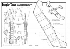Rumpler Taube model airplane plan