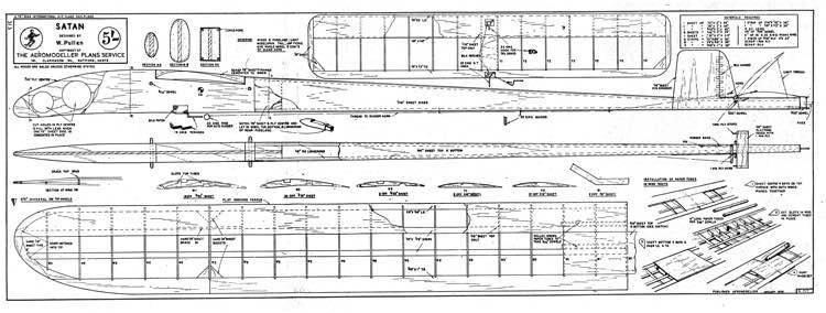 Satan model airplane plan