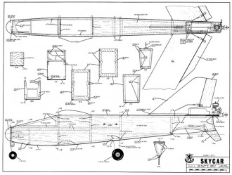 Joined-Wing Skycar model airplane plan