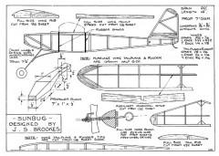 Sunbug model airplane plan