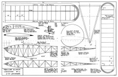 Two Line model airplane plan