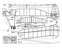Wakefield Winner model airplane plan