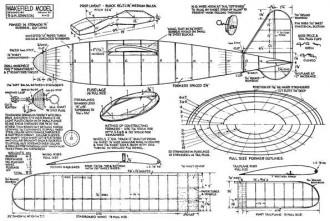 Wakefield Model model airplane plan
