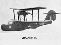 Walrus II model airplane plan