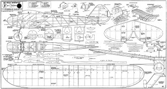 Air Trails Sportster-Aeromodeller model airplane plan
