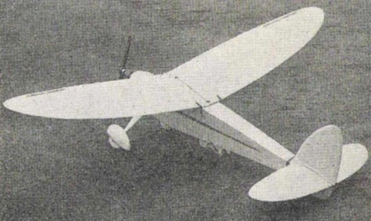 Bowden Contest model airplane plan