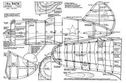 I-16 RATA model airplane plan