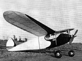 Air Trails Sportster model airplane plan