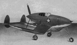 Pusher Pursuit model airplane plan