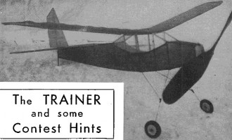 Trainer model airplane plan