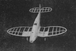 Heinkel Pursuit HE-112 model airplane plan