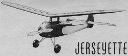 Jerseyette   model airplane plan