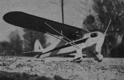 Piper Cub Coupe model airplane plan