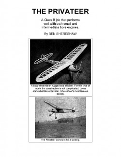Privateer (with article) model airplane plan