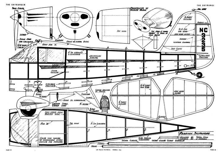Rearwin Skyranger model airplane plan