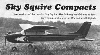1/2A Sky Squire model airplane plan
