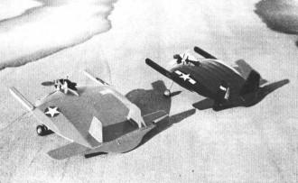 Chance Vought Skimmer model airplane plan