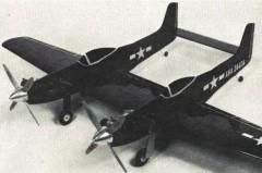 F-82 Twin Mustang model airplane plan