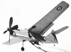 Fairey Barracuda model airplane plan