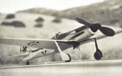 Focke Wulf TA-152 model airplane plan