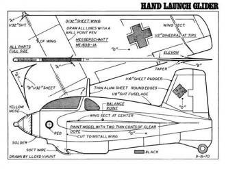 Me 163-1A model airplane plan